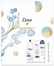 Духи, Парфюмерия, косметика Набор - Dove Nourishing Beauty Gift Set (sh/gel/250ml + b/lotion/250ml + deo/150ml)