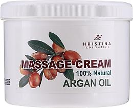 Духи, Парфюмерия, косметика Натуральный массажный крем с аргановым маслом - Hrisnina Cosmetics 100% Natural Massage Cream Argan Oil