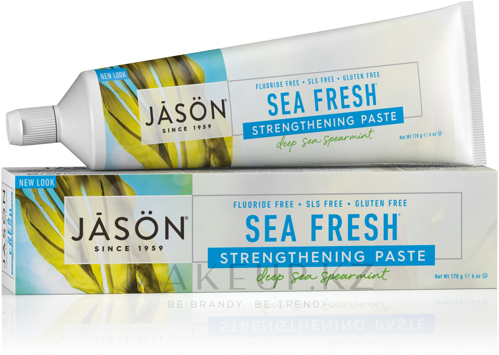 Зубная паста с морскими водорослями - Jason Natural Cosmetics Toothpaste Deep Sea Spearmint — фото 170 g