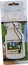 Духи, Парфюмерия, косметика Ароматизатор для автомобиля - Yankee Candle Car Jar Clean Cotton