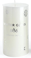 Духи, Парфюмерия, косметика Ароматическая свеча, белая, 7х19см - Artman Winter Glass