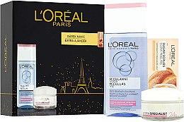 Духи, Парфюмерия, косметика Набор - L'Oreal Paris Skin (cr/50ml + micellar/200ml + f/scrub/4ml)