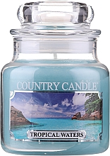 "Духи, Парфюмерия, косметика Ароматическая свеча ""Тропические воды"" (банка) - Country Candle Tropical Waters"