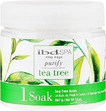 Духи, Парфюмерия, косметика Очищающая соль для ванночек рук и ног с экстрактом чайного дерева - IBD Tea Tree Purify Pedi Spa Soak