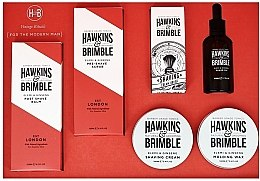 Духи, Парфюмерия, косметика Набор - Hawkins & Brimble Set (scr/125ml+asb/125ml+br/oil/50ml+sh/cr/100ml+wax/100ml+sh/brush)