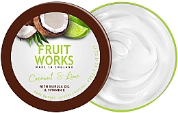 "Духи, Парфюмерия, косметика Масло для тела ""Кокос и лайм"" - Grace Cole Fruit Works Body Butter Coconut & Lime"