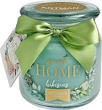 Духи, Парфюмерия, косметика Ароматическая свеча, 10х11 см., 360г. - Artman Sweet Home Hibiscus