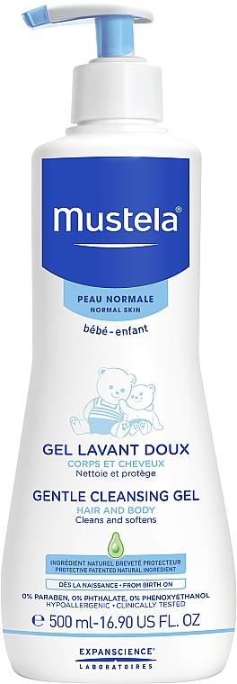 Набор - Mustela Bebe (b/gel/500ml+b/milk/300ml+cr/50ml+wipes/70+acc) — фото N2