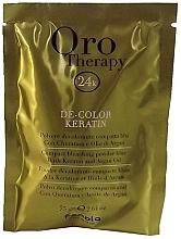 Духи, Парфюмерия, косметика Осветляющий порошок с кератином, голубой - Fanola Oro Therapy Color Keratin