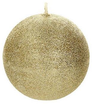 Декоративная свеча, шар, золотой, 10 см - Artman Glamour — фото N1