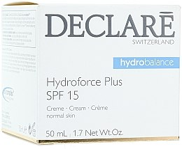 Духи, Парфюмерия, косметика Ультраувлажняющий дневной крем c SPF 15 - Declare Hydroforce Plus SPF 15 Cream