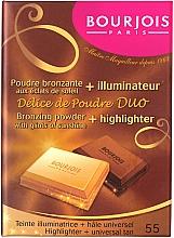 Духи, Парфюмерия, косметика Компактная пудра для лица - Bourjois Delice De Poudre Bronzing Duo Powder + Highlighter