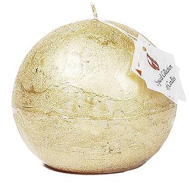 Натуральная свеча, шар, 12 см - Ringa Golden Glow Candle — фото N1