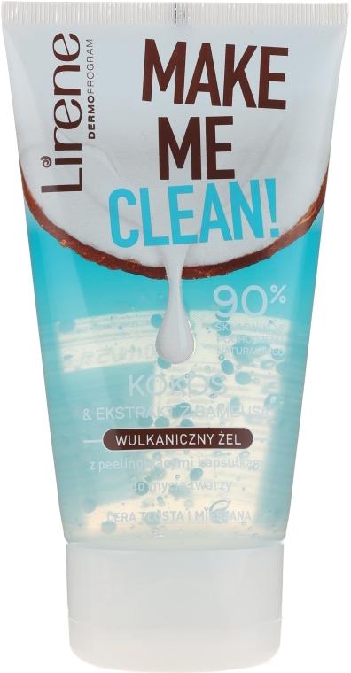 Вулканический гель для умывания с экстрактом кокоса и бамбука - Lirene Make Me Clean! Gel — фото N1