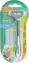 Духи, Парфюмерия, косметика Станок + 5 сменных картриджей - Wilkinson Sword Xtreme3 Hybrid