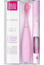Духи, Парфюмерия, косметика Электрическая зубная щетка с дополнительной насадкой - Foreo Issa 2 Sensitive Set Pearl Pink