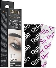 Духи, Парфюмерия, косметика Краска для бровей в порошке, черная - Delia Brow Dye Henna Traditional Black