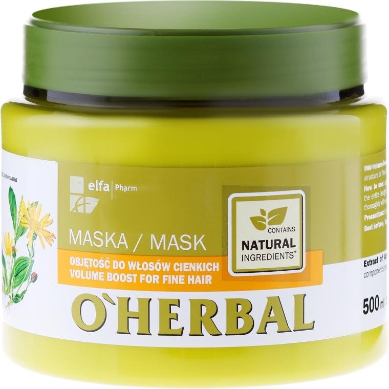 Маска для объема тонких волос с экстрактом арники - O'Herbal — фото N1