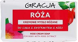 Духи, Парфюмерия, косметика Мыло туалетное с экстрактом розы - Gracja Rose Cream Soap With Rose Extract