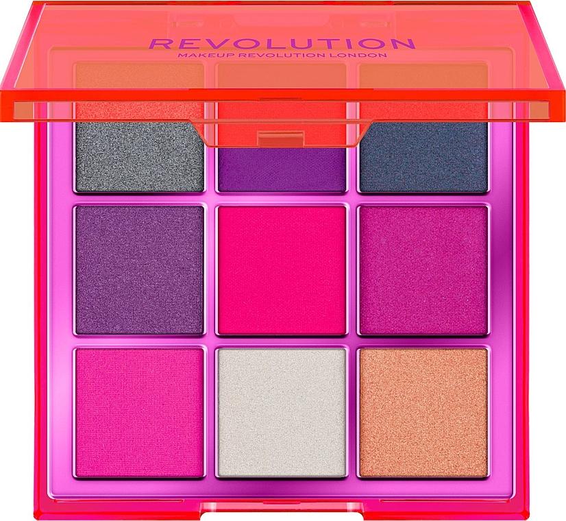 Палетка теней для век, 9 цветов - Makeup Revolution Viva Neon — фото N1