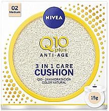 Духи, Парфюмерия, косметика Тональный кушон - Nivea Q10 Plus Anti-Aging Radiance BB Cushion
