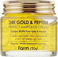 Духи, Парфюмерия, косметика Ампульный крем с золотом и пептидами - FarmStay 24K Gold & Peptide Perfect Ampoule Cream