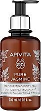 "Духи, Парфюмерия, косметика Увлажняющее молочко для тела ""Натуральный жасмин"" - Apivita Pure Jasmine Moisturizing Body Milk"