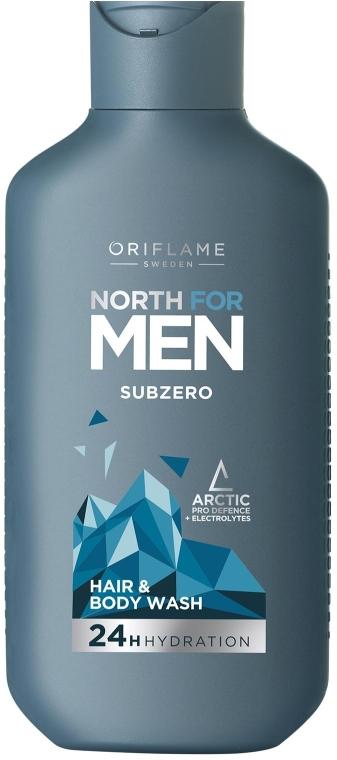 Шампунь для волос и тела - Oriflame North For Men Subzero — фото N1