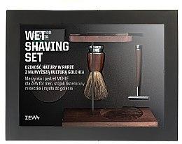 Духи, Парфюмерия, косметика Набор - Zew For Men Wet Shaving Set (soap/85ml + razor/1psc + sh/brush/1pcs + sh/cup/1pcs + sh/stand/1pcs)