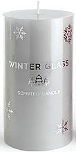 Духи, Парфюмерия, косметика Ароматическая свеча, серая, 9х8см - Artman Winter Glass