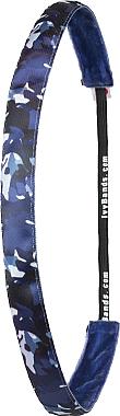 "Обруч-резинка для волос ""Military/Blue"" - Ivybands — фото N1"