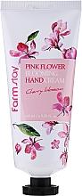 "Духи, Парфюмерия, косметика Крем для рук ""Вишневый цвет"" - FarmStay Pink Flower Blooming Hand Cream Cherry Blossom"