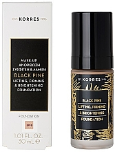Духи, Парфюмерия, косметика Тональная основа - Korres Black Pine Lifting, Firming & Brightening Foundation
