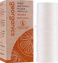 Духи, Парфюмерия, косметика Зубная нить, 2х50 м - Georganics Natural Sweet Orange Dental Floss (сменный блок)