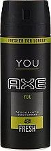 Духи, Парфюмерия, косметика Дезодорант-спрей - Axe You Fresh Deodorant Spray