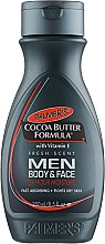 Духи, Парфюмерия, косметика Мужской лосьон для ухода за телом - Palmer's Cocoa Butter Formula Men Body & Face Lotion