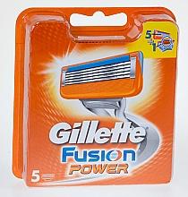 Духи, Парфюмерия, косметика Сменные кассеты для бритья, 5 шт. - Gillette Fusion Power