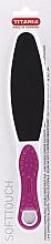 Духи, Парфюмерия, косметика Терка педикюрная двусторонняя с ручкой, розовая - Titania
