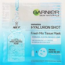 Духи, Парфюмерия, косметика Тканевая маска с гиалуроновой кислотой - Garnier SkinActive Fresh-Mix Sheet Mask With Hyaluronic Acid