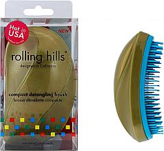 Духи, Парфюмерия, косметика Компактная расческа для волос, золото - Rolling Hills Compact Detangling Brush Gold