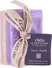 Духи, Парфюмерия, косметика Набор - Le Chatelard 1802 Lavanda&Jasmin (soap/100g + soap/100g)