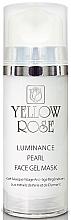 Духи, Парфюмерия, косметика Гелевая маска для лица с жемчугом, алмазной пудрой - Yellow Rose Luminance Pearl Face Gel Mask