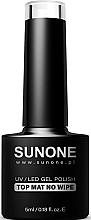 Духи, Парфюмерия, косметика Матовый топ для гель-лака без липкого слоя - Sunone UV/LED Gel Polish Top Mat No Wipe