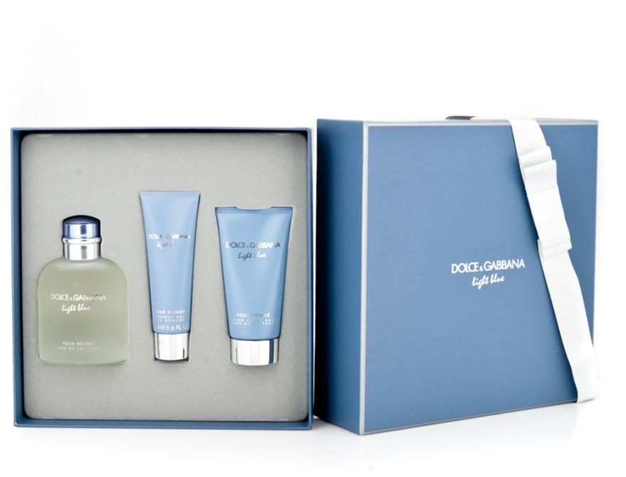 Dolce & Gabbana Light Blue pour Homme - Набор (edt 125 + sh/g 50 + a/sh balm 75) — фото N6