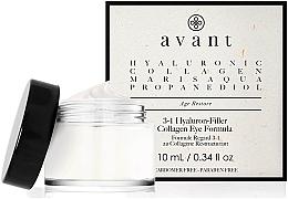 Духи, Парфюмерия, косметика Крем «3 в 1» для кожи вокруг глаз с гиалуроновой кислотой - Avant Skincare 3-1 Hyaluron-Filler Collagen Eye Formula