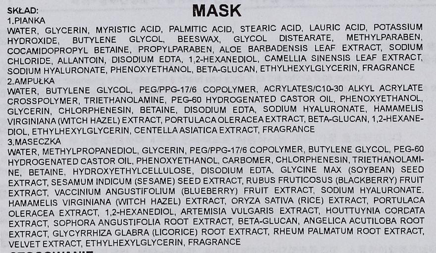 Трехступенчатая процедура для восстановления кожи - Rainbow L'Affair 3-Steps Skin Renewal Face Mask Aqua Black — фото N3