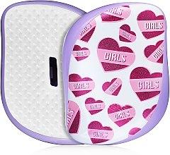 Духи, Парфюмерия, косметика Компактная расческа для волос - Tangle Teezer Compact Styler Girl Power