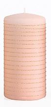 Духи, Парфюмерия, косметика Декоративная свеча, розово-золотая, 7x14 см - Artman Andalo