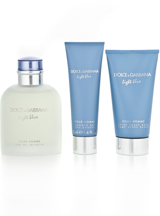 Dolce & Gabbana Light Blue pour Homme - Набор (edt 125 + sh/g 50 + a/sh balm 75) — фото N5