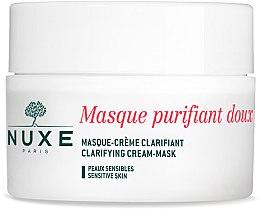 Духи, Парфюмерия, косметика Очищающая крем-маска с лепестками роз для лица и декольте - Nuxe Clarifying Cream-Mask With Rose Petals